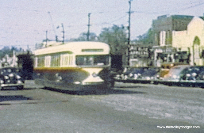 A CSL prewar car in standard colors neat the west end of the Madison line. (Joh n Marton Collection)