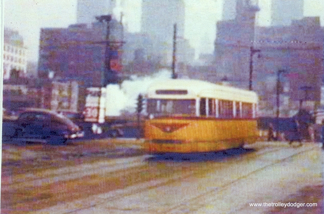 CSL 4020 in experimental colors, on route 20 - Madison just west of the Loop. (John Marton Collection)