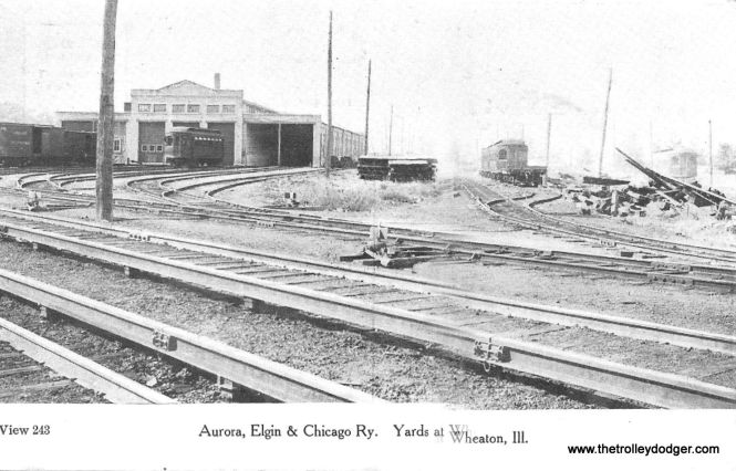 The CA&E yard in Wheaton in the early 1900s, when the railroad was still called the AE&C.