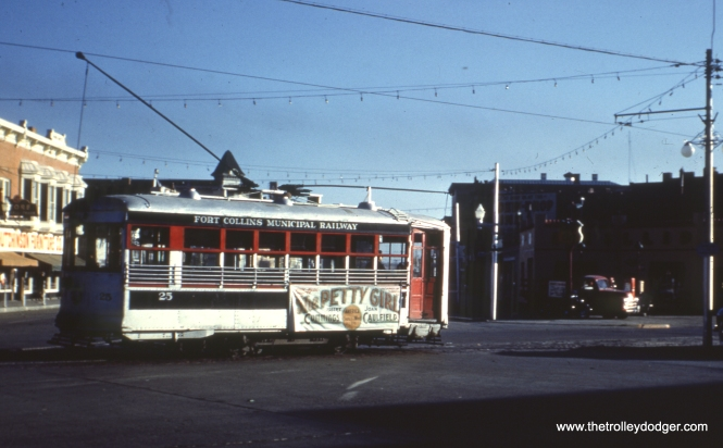 25 in reverse rush hour loop service downtown in October 1950.