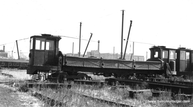 This photo shows CSL work car N5 on December 27, 1940. (Max Miller Photo)