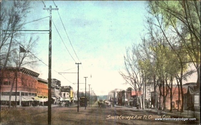 Before the Birneys, the Ft. Collins system used conventional streetcars, as seen in this postcard from circa 1910.