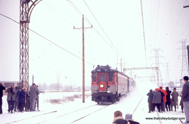 A photo run-by on a February 21, 1960 North Shore Line fantrip.