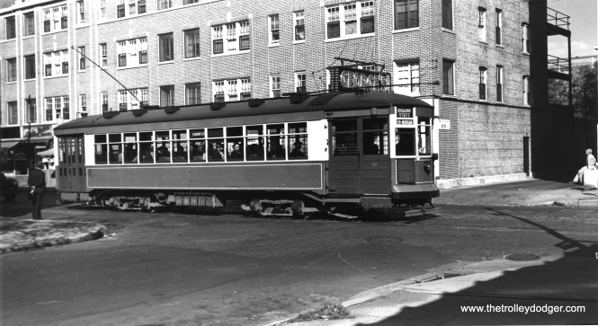 "CSL 1767 on Broadway-State. One of our regular readers writes, ""On Broadway SB near Surf Street (my best guess) post 1937."" (Robert V. Mehlenbeck Photo, Joe L. Diaz Collection)"
