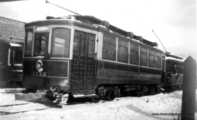 CSL 1142 at Devon car house. Many cars in this series were sold in 1946 for use as temporary housing. I am not sure if this picture was taken around 1930-32 like the few that precede it. (George Krambles Photo, Edward Frank, Jr. Collection)