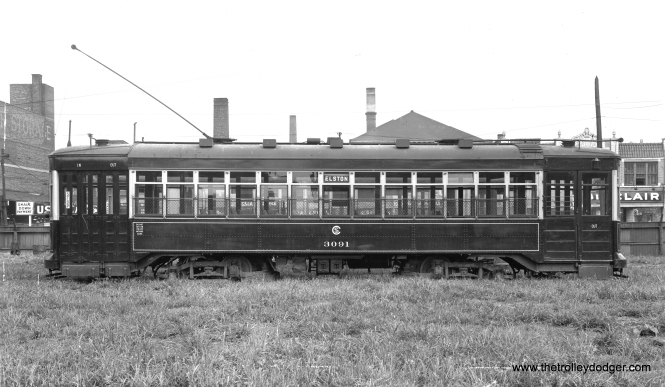 "CSL 3091, signed for Elston, was called an ""Odd 17"" car, although there were actually 19. It was built by CSL in 1919."