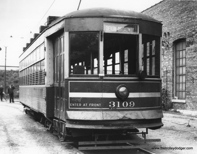 Another view of CSL 3109 at Devon station (car house). (Krambles-Peterson Archive)
