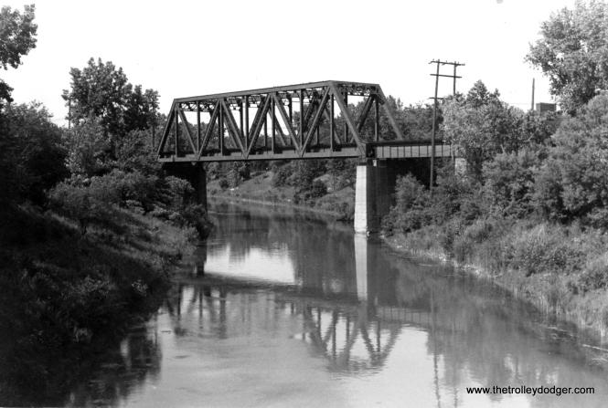 The North Shore Channel bridge in 1961. (George Trapp Photo)