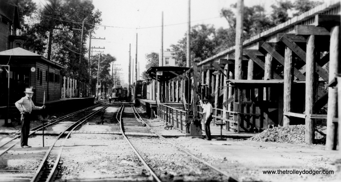 "A grade separation project in Evanston. Brian M. Hicks: ""This is Foster Station in Evanston, looking north in Fall 1929."" (Allen T. Zagel Photo, George Trapp Collection)"