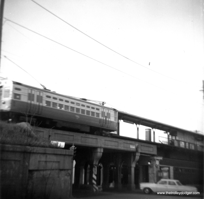 CTA car 50 at South Boulevard in 1962. (George Trapp Photo)