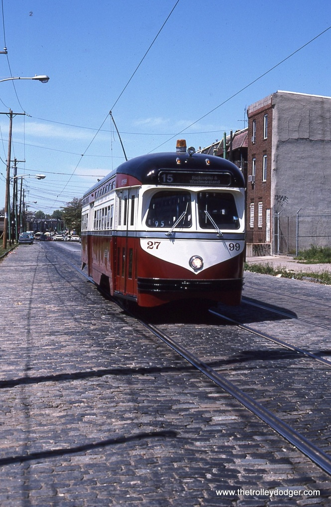 2799 on Girard Avenue at St. Bernard, West Philadelphia, note cobble stones in road.