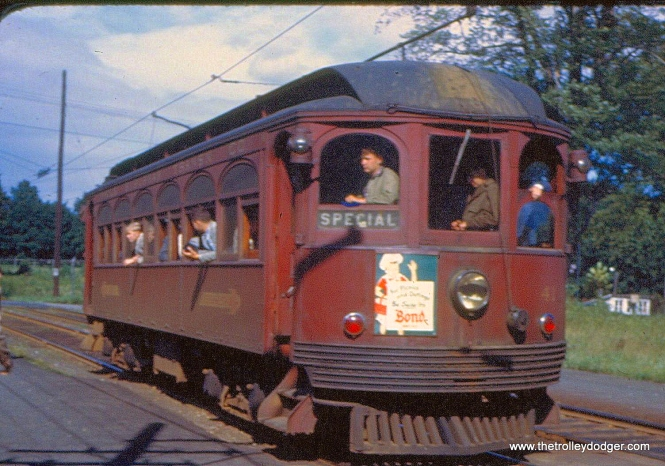 Red Arrow 41 on the West Chester line in 1945.