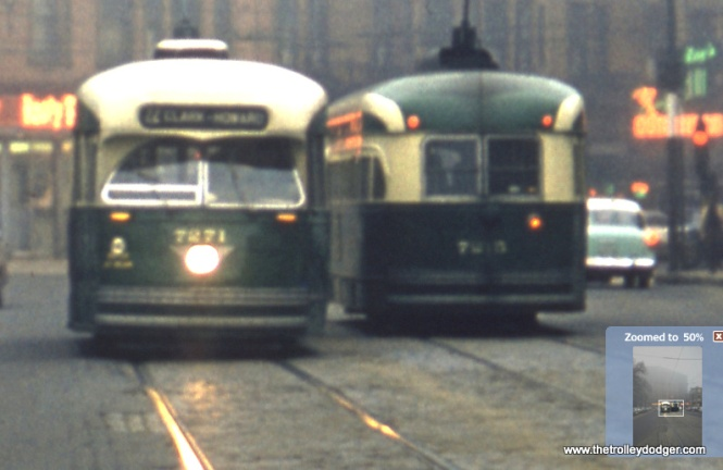 In this close-up, that looks like 7215 at right. Photographer Russel A. Kreite (1923-2015), of Downers Grove, Illinois, was a member of the Photographic Society of America and had many of his photos published in books and magazines.