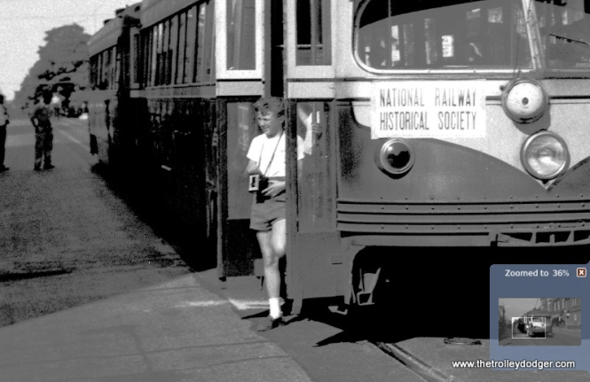Young railfan with a box camera, 62 years ago.