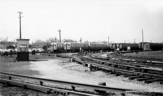 The Douglas Park Yards at 54th Avenue in the 1950s. (George Trapp Collection)