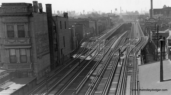 The subway ramp, just south of Armitage. (George Trapp Collection)