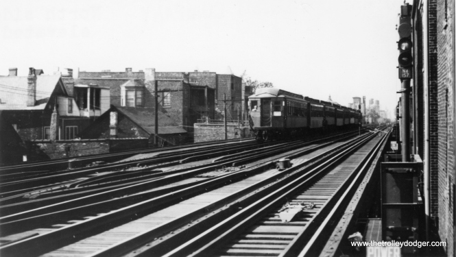 "The North Side ""L"". Not sure of the exact location. (George Trapp Collection)"