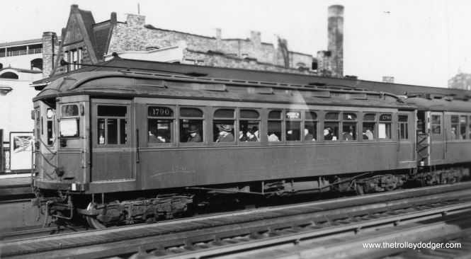 Here, CRT 1790 is part of a Jackson Park Express at Addison. (George Trapp Collection)