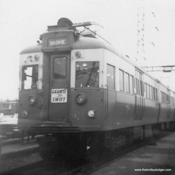 Here. we see CTA 5001, renumbered as 51, in Skokie Swift service in 1966. (George Trapp Photo)