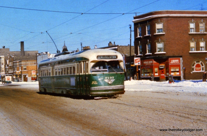 CTA 7197 is southbound at Clark and Thome. There is a similar picture taken at this location on page 155 of CERA Bulletin 146.