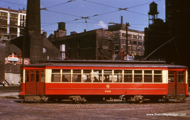 CSL Pullman 786 on Van Buren in February 1952.