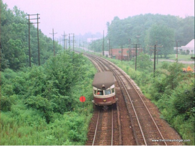 A Bullet car on the Norristown High-Speed Line.
