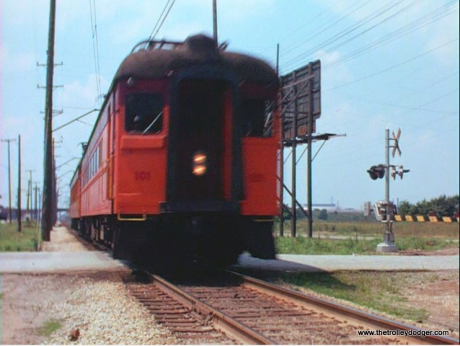 The South Shore Line in Indiana.