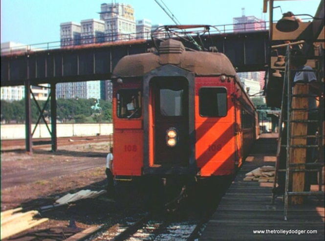 South Shore Line car 108 in Chicago.