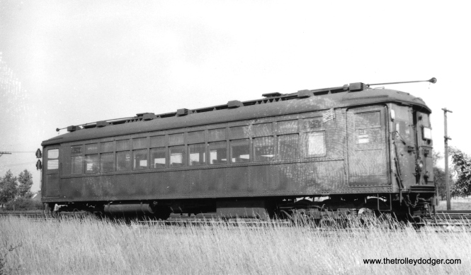 "Unlike this one, most 4000-series ""L"" cars did not have giant thumbprints on them. So, either the Cardiff Giant has paid a visit, or someone put their thumb onto a wet print or negative. (Joe L. Diaz Photo, George Trapp Collection)"
