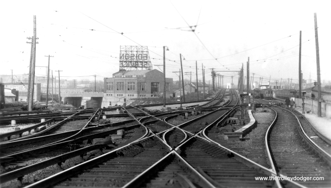 "The view looking north from Howard Street. George Trapp dates this to the ""late 1920's - 1930's."" (Allen T. Zagel Photo, George Trapp Collection)"