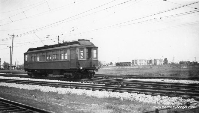 When the Niles Center branch ran (1925-1948), Chicago's rapid transit lines depended on a lot of walk-in riders from the neighborhoods. Unfortunately, large parts of Skokie were not built up until after World War II. (George Trapp Collection)