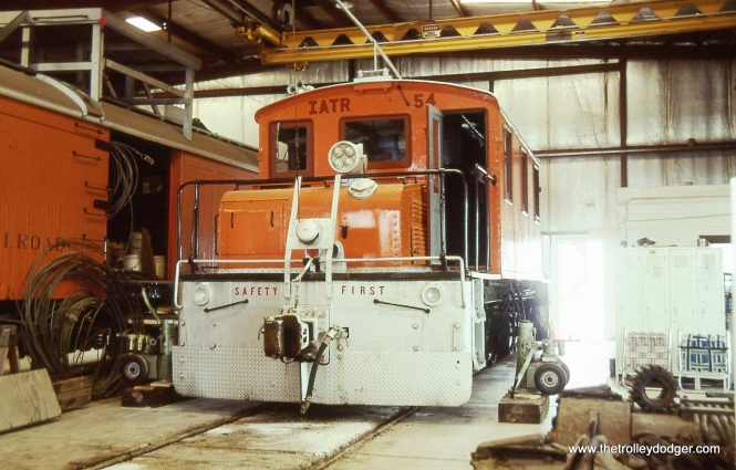 9. IATR # 54 was built in 1923 for the Southern Iowa Railroad. Here it is inside the Emery shop.