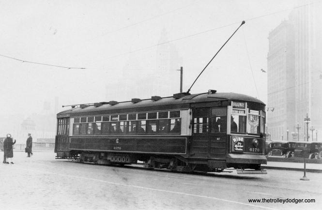 This photo of CSL 6170 heading northbound, was taken at State and Wacker, probably also in December 1932.