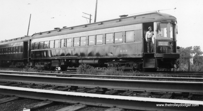 "Caption: ""Chicago, Aurora & Elgin 433, geared for 95 miles an hour."" 433 was built by Cincinnati Car Co. in 1927. There is some debate as to just how fast CA&E cars ran. The general consensus is they could do at least 60 mph but that close proximity to nearby buildings might have inflated the ""illusion of speed"" relative to, say, the North Shore Line, which was in more open areas."