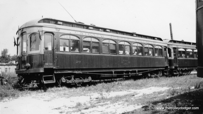 "Don's Rail Photos says CA&E car 20 ""was built by Niles Car in 1902. It was preserved by Railway Electric Leasing & Investing Corp in 1962. It was then transferred to Fox River Trolley Museum in 1984. It is the oldest operating interurban in the United States."""