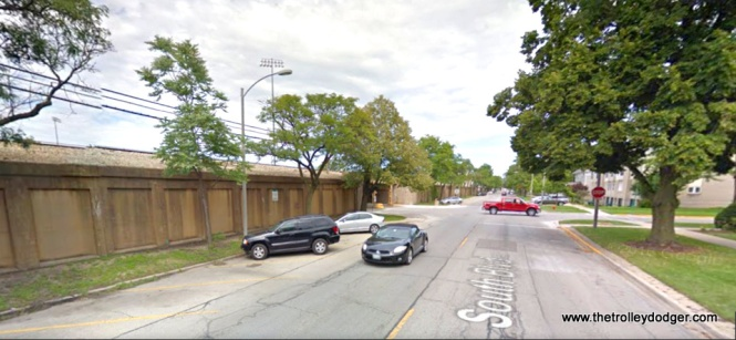 Here is what South Boulevard looks like today, at approximately the same spot.