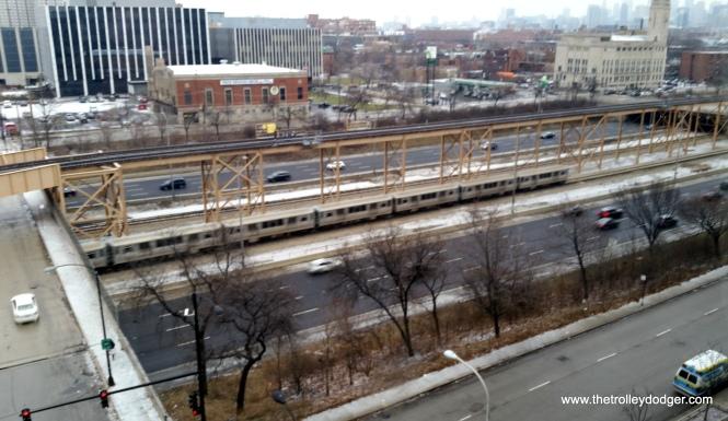 An inbound Blue Line train.