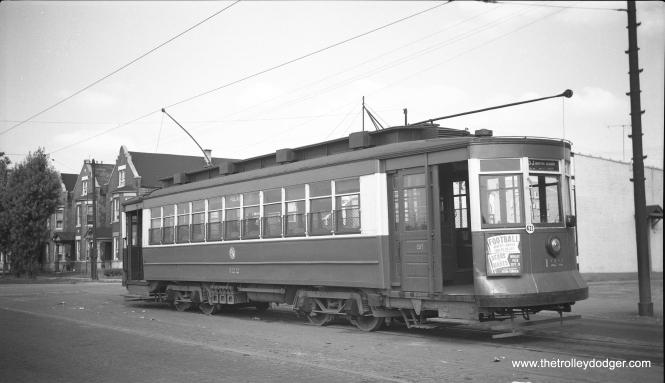 CTA Pullman 122, signed for route 53 Pulaski, on September 2, 1949.