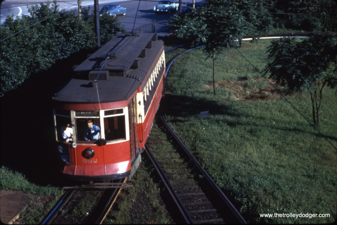 CTA 692 at the Museum Loop in May 1950. This extension of the Roosevelt Road line was built for the 1933-34 Chicago World's Fair (A Century of Progress).