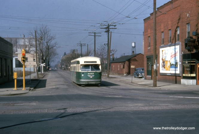 CTA 4067 at 120th and Halsted on March 21, 1954, near the south end of route 36.