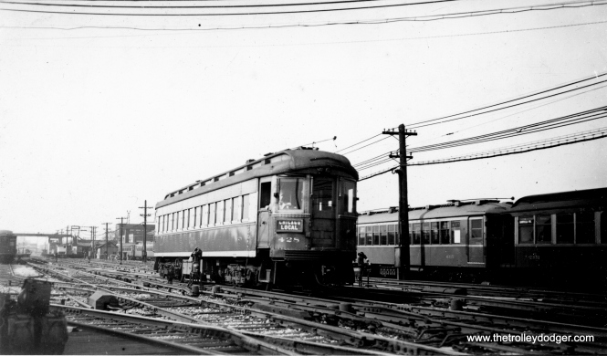 CA&E 428 at the Laramie Avenue Yards on November 3, 1940. This was built by the Cincinnati Car Co. in 1927. (Frank Krejcik Photo)