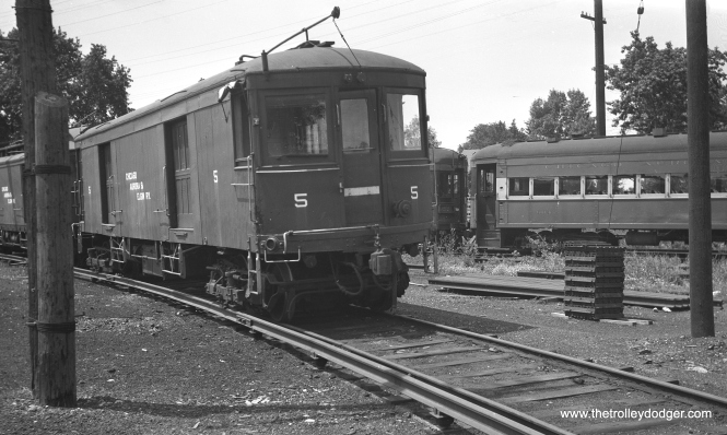 CA&E 5 at Wheaton Yards in July 1948.