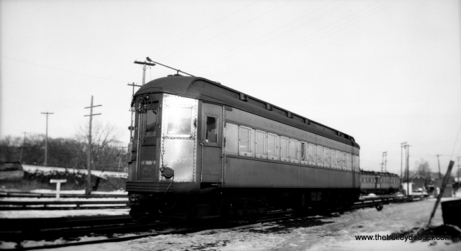 CA&E 407, built by Pullman in 1923, at Wheaton Yard. (Walter Broschart Photo)