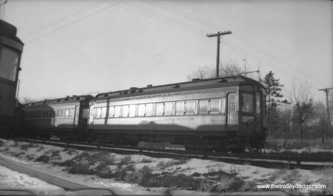 Sunset Lines indeed! (Or sunrise, depending on the angle.) Here we see wood car 38 at an unknown location. (Walter Broschart Photo)