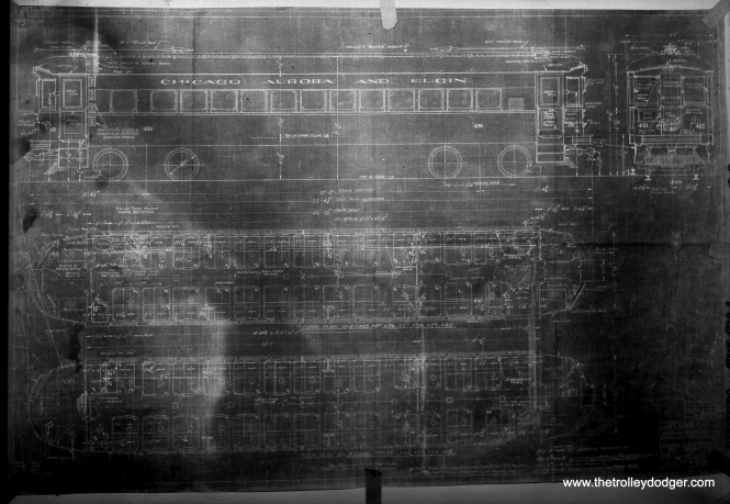 In the days before scanners, fans tried to document things as best they could. Here is a not-so-successful attempt to photograph the blueprint for car 451 in August 1949.