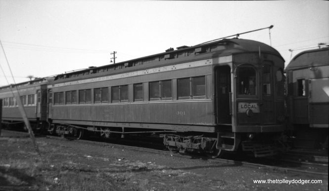 "Don's Rail Photos: ""301 was built by Niles Car & Mfg Co in 1906. It was modernized in December 1940."""