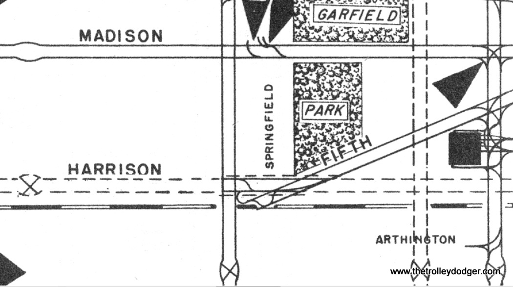 Excerpt from the 1948 CTA supervisor's track map