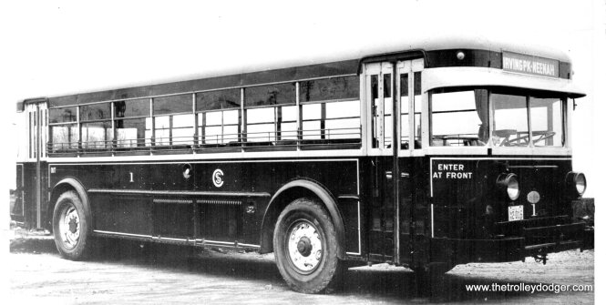 CSL gas bus #1 in the 1930s.