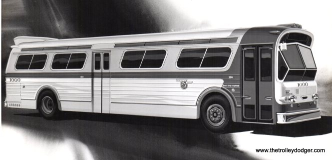 An artist's rendering of a CTA New Look bus.