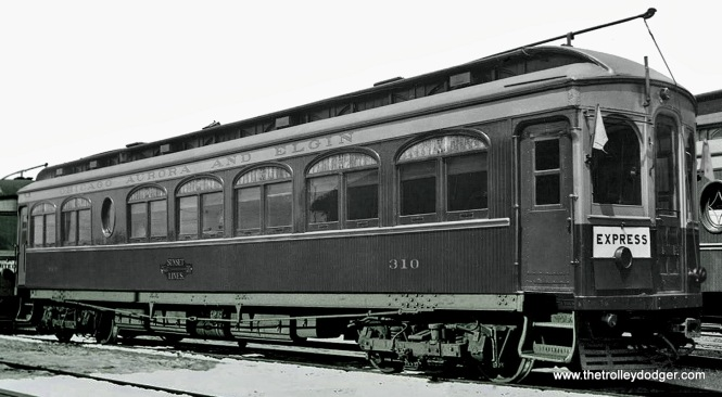 Here's one more that I think you'll like. It looks like CA&E 310 (Hicks 1908) just came out of the paint shop, and boy did they do a nice job!